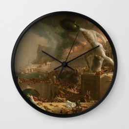 The Course of Empire Destruction - Cole Thomas Wall Clock