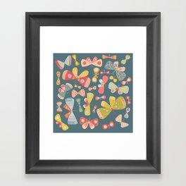 Butterfly Tango Dark Framed Art Print