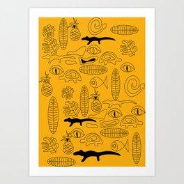Crocodile Dream Art Print