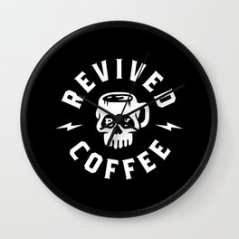 Revived By Coffee Wall Clock