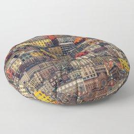 Copenhagen Facades Floor Pillow