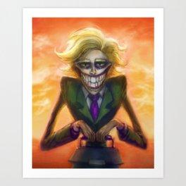 Freaky Fred Art Print
