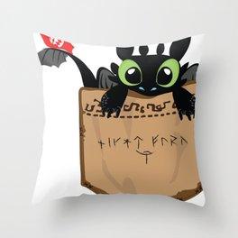 Toothless a viking dragon Throw Pillow