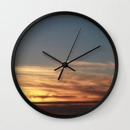 LA Sunset View Print Wall Clock