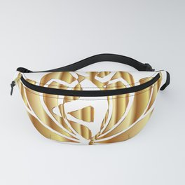 Golden Lotus Fanny Pack