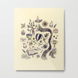 Hufflepuff, Loyal and True Metal Print