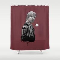 grimes Shower Curtains featuring The Walking Dead Rick Grimes by Cursed Rose