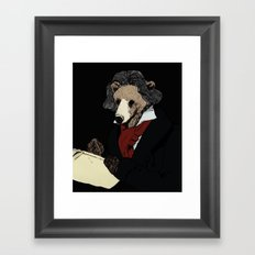 Bearthoven Framed Art Print