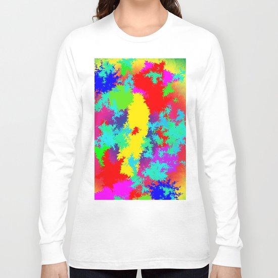 Colourful Random Trippy Pattern Long Sleeve T-shirt