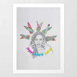 FFYDD, GOBAITH, CARIAD / Faith, Hope, Love Art Print