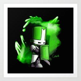 One Green Knight Art Print