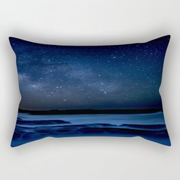 Dark Night California Coastal Waters Rectangular Pillow