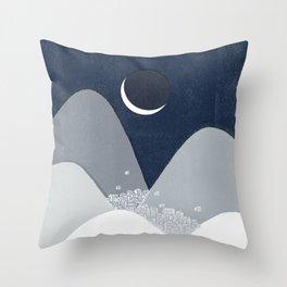 Bleak Midwinter Throw Pillow