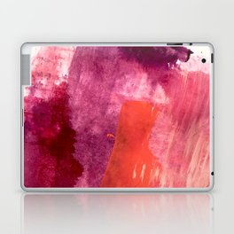 Blushing: a vibrant, minimal abstract in purple, pink, and red Laptop & iPad Skin