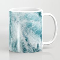 photograph Mugs featuring Sea by Vickn