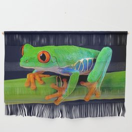 TREE FROG ON BAMBOO Wall Hanging