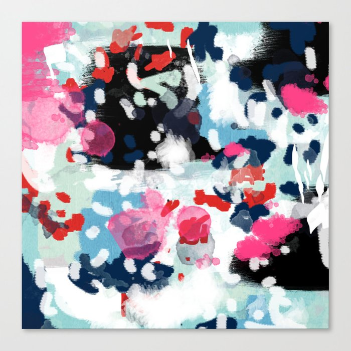 Paige Abstract Painting Hipster Home Decor Trendy Color Palette Art Gifts Canvas Print By Charlottewinter
