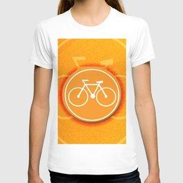 Orange Bicycle T-shirt