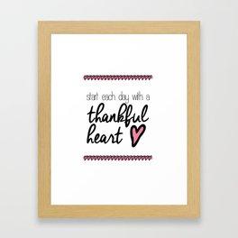 Thankful Heart Framed Art Print