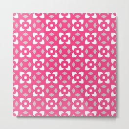 Kerstin - pink & grey Metal Print