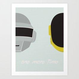 One More Time Art Print