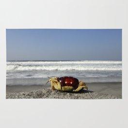 Crab On The Beach Rug