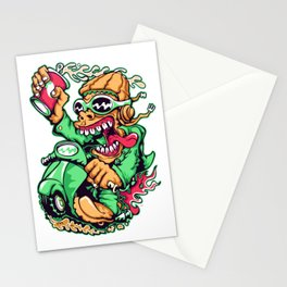 GREEN - Scooter Stationery Cards