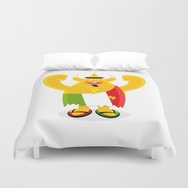 It Italy leaning tower of geeza character  Duvet Cover