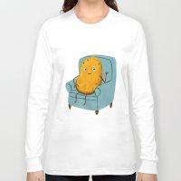 potato Long Sleeve T-shirts featuring Couch Potato by Julia Bereciartu