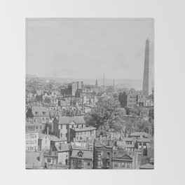 Vintage Photograph of Charlestown Massachusetts  Throw Blanket