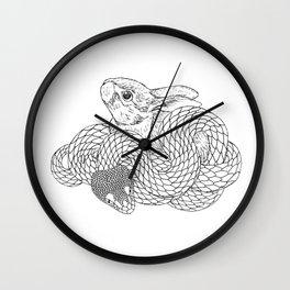 Rabbit and Snake Wall Clock
