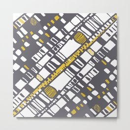 Diagonal layers yellow Metal Print
