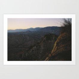 Angels National Forest, sunset no.10 Art Print