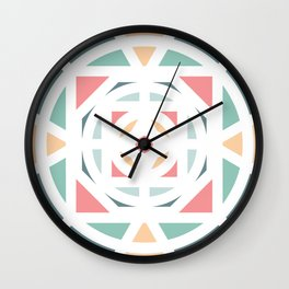 Pastel and shapes Wall Clock