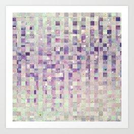 Purple and pink galaxy pattern Art Print
