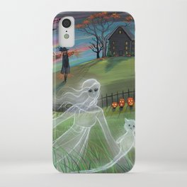Ghost Friends Halloween Fantasy Art by Molly Harrison iPhone Case