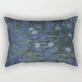 Claude Monet - Blue Water Lilies Rectangular Pillow