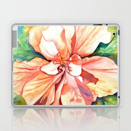 Double Peach Tropical Hibiscus Laptop & iPad Skin