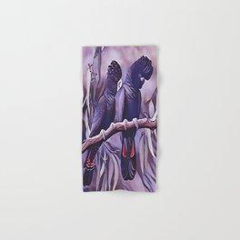 Red Tailed Black Cockatoo Hand & Bath Towel