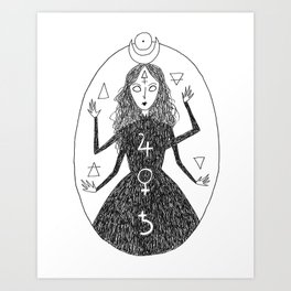 Alchemy Witch Art Print