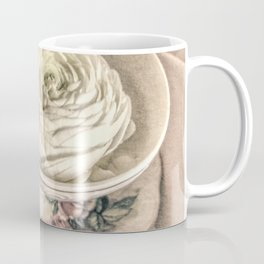 Ranunculus Flowers Tea Cup Modern Cottage Modern Country Matted Picture USA A445 Coffee Mug