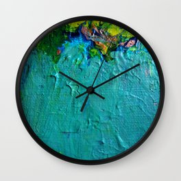 Getting Ready to Venture Around the River Bend by annmariescreations Wall Clock