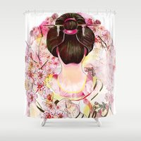 japanese Shower Curtains featuring Japanese by Felicia Atanasiu