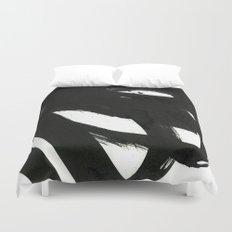 black on white 1 Duvet Cover
