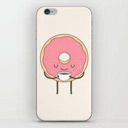 donut loves coffee iPhone Skin