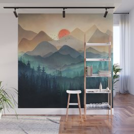 Wilderness Becomes Alive at Night Wall Mural