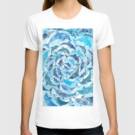 Water color dolphins T-shirt