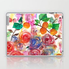 Abstract Watercolour Floral + Fruit Painting  Laptop & iPad Skin