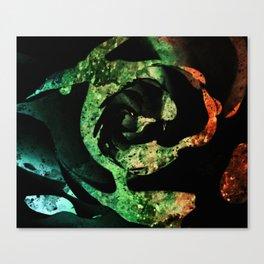 Black acrylic Rose splashes texture Canvas Print