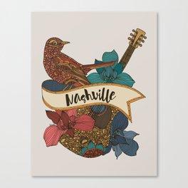 Nashville guitar Canvas Print
